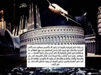 Imagen atribuida al EI que incluye la Sagrada Familia