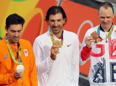 Fabian Cancellara, Tom Dumoulin y Chris Froome