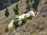 Helicóptero estrellado en La Palma