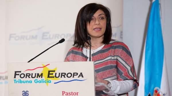 La conselleira do Medio Rural, Ángeles Vázquez, en el Forum Europa