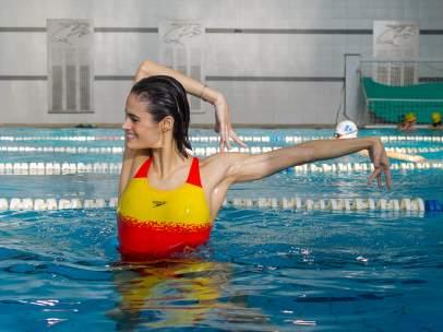 Thaïs Henríguez, en su medio natural, el agua