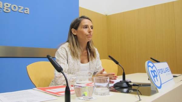 La concejal del PP, MarIa Navarro