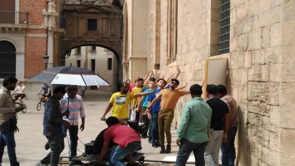 Rodaje de Bollywood en Valencia