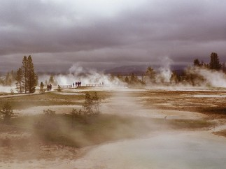 Stan Jorstad - A view of the West Thumb Geyser Basin in Yellowstone National Park, Wyoming, 1989