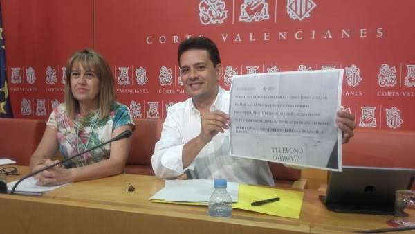 Yáñez y Zaplana durante la rueda de prensa de este jueves