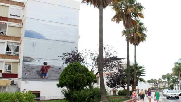 Estepona Inaugura Un Nuevo Mural Artístico Dedicado A Los Niños Refugiados