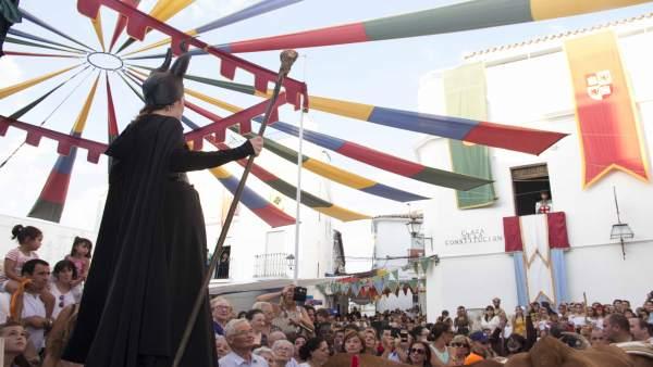Inauguración de las Jornadas Medievales de Cortegana (Huelva)