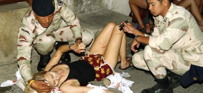 Heridos en los atentados de Tailandia