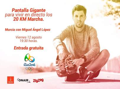 Pantalla gigante para ver a Miguel Ángel López