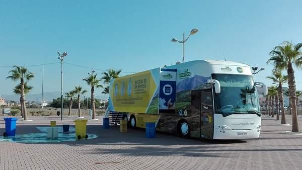 Autobús en fomento del reciclaje, Ronda