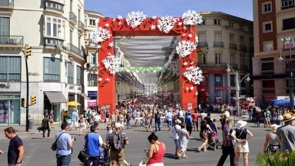 Feria Málaga, Larios, portada, centro, fiestas