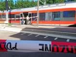 Estación de tren de Salez-Sennwald acordonada por el ataque de un hombre armado con líquido inflamable y al menos un cuchillo