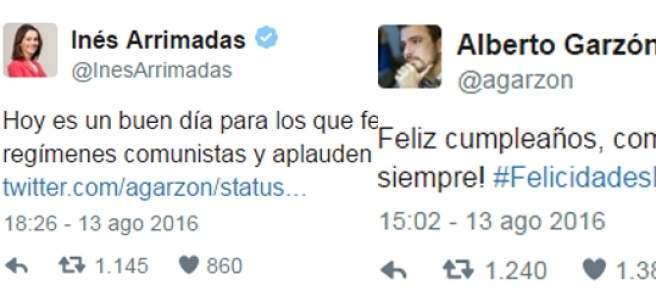 Arrimadas y Garzón, en Twitter