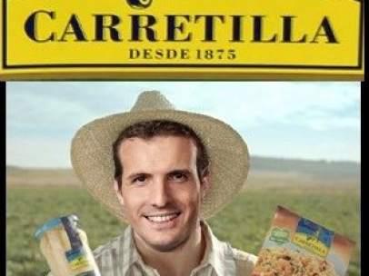 Pablo Casado, convertido en un meme a raíz de su visita a Palencia