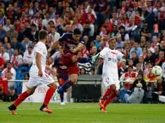Luis Suárez ante el Sevilla