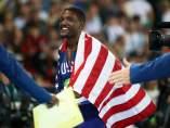 Justin Gatlin, medalla de plata en los 100 metros.