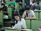 Alumnos en el examen de selectividad