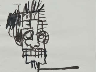Jean-Michel Basquiat (American, 1960–1988). Untitled (Ink Drawing), 1981