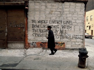 Edo Bertoglio (Swiss, born 1951). Jean-Michel Basquiat on the set of Downtown 81, 1980–81
