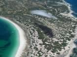 Imagen aérea del incendio de Formentera