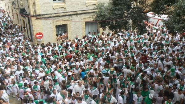 Inicio de las fiestas de San Lorenzo 2016, en Huesca