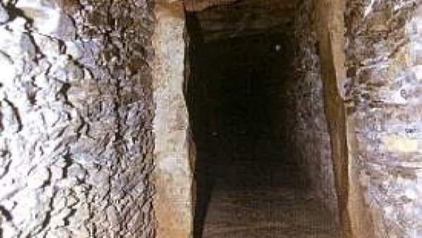 Corredor del dolmen de La Pastora.
