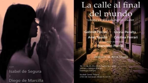 Cartel de la obra Los Amantes de Teruel en Miami
