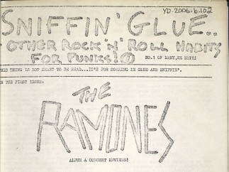 First issue of first punk fanzine Sniffin' Glue
