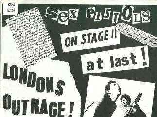 London's Outrage fanzine, December 1976, by Jon Savage