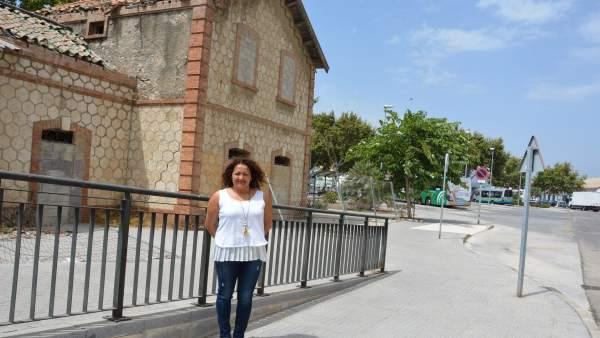 Estación de Ferrocaril de Vélez-Málaga, edil Cynthia García