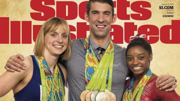 Ledecky, Phelps y Biles en Sports Illustrated