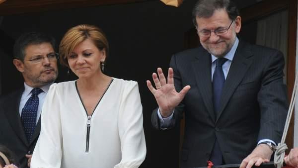 Rajoy y Cospedal, Corpus de Toledo