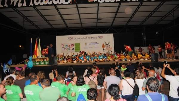 Más de 160 niños han participado en las Olimpiadas Rurales