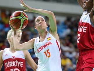Anna Cruz en el España - Turquía