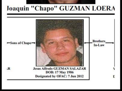 Jesús Alfredo Guzmán Salazar, hijo de 'El Chapo'