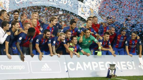 El Barça, campeón de la Supercopa de España