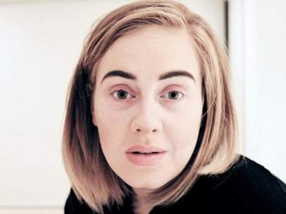 Adele sin maquillaje