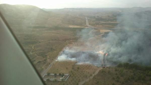 Extinguido el incendio del Valtorres (Zaragoza