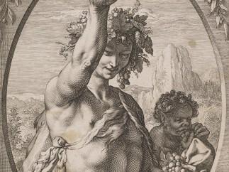Hendrick Goltzius (1558–1617) - Bacchus, ca. 1595