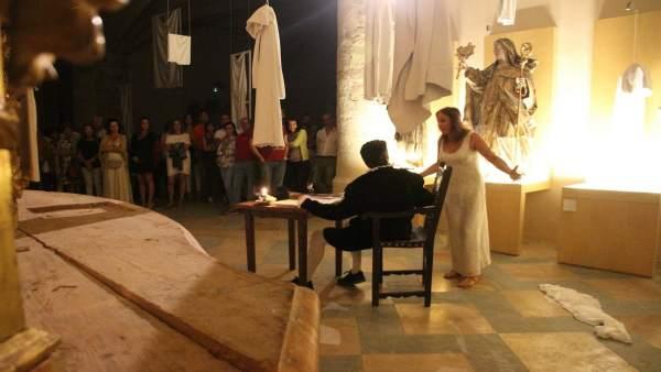 Imagen de la primera velada cervantina.
