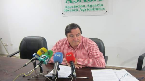 ÞÁngel García, presidente de Asaja Extremadura