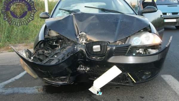 Accidente en el camino Serradal