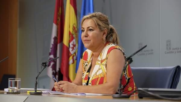 La vicepresidenta y portavoz de la Junta, Rosa Valdeón