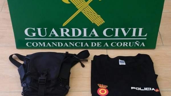 Un hombre se hacía pasar por agente de Policía en A Coruña
