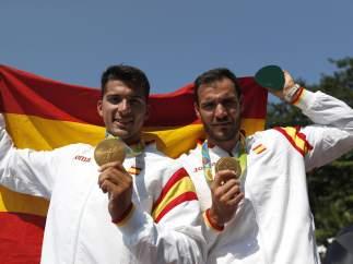 Toro y Craviotto, en el podio olímpico de Río 2016