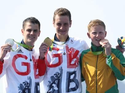 Los hermanos Brownlee, oro y plata en el triatlón olímpico