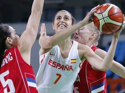 Alba Torrens en el España - Serbia