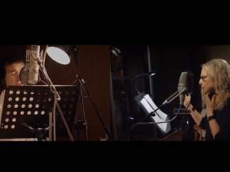 Barbra Streisand y Antonio Banderas cantan juntos