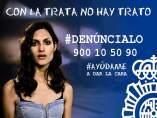 Campaña contra la trata de seres humanos de la Policía Nacional.