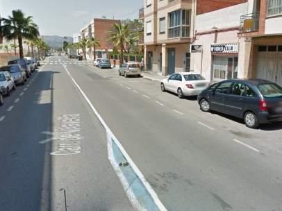 Carretera de Vilavella, en Nules, Castellón